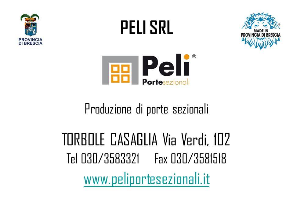 PELI SRL TORBOLE CASAGLIA Via Verdi, 102 www.peliportesezionali.it