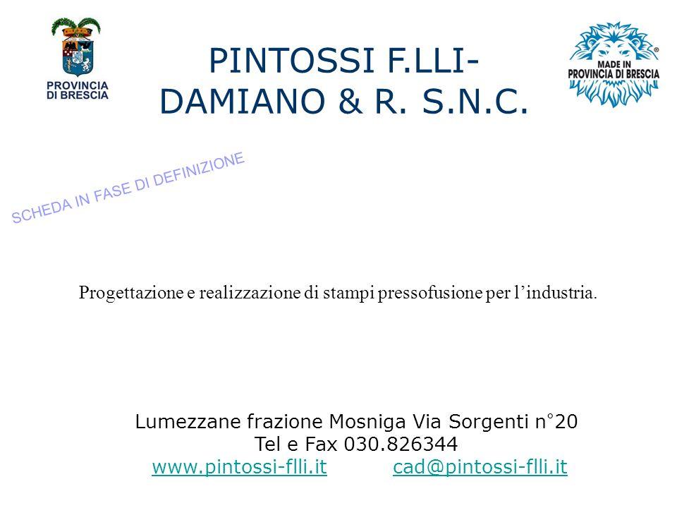 PINTOSSI F.LLI-DAMIANO & R. S.N.C.
