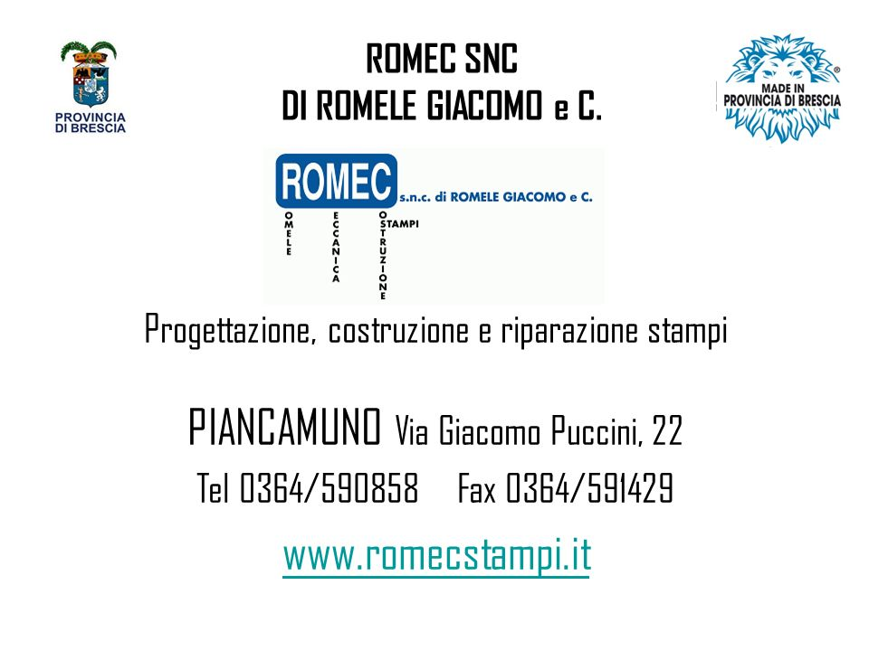 ROMEC SNC DI ROMELE GIACOMO e C.