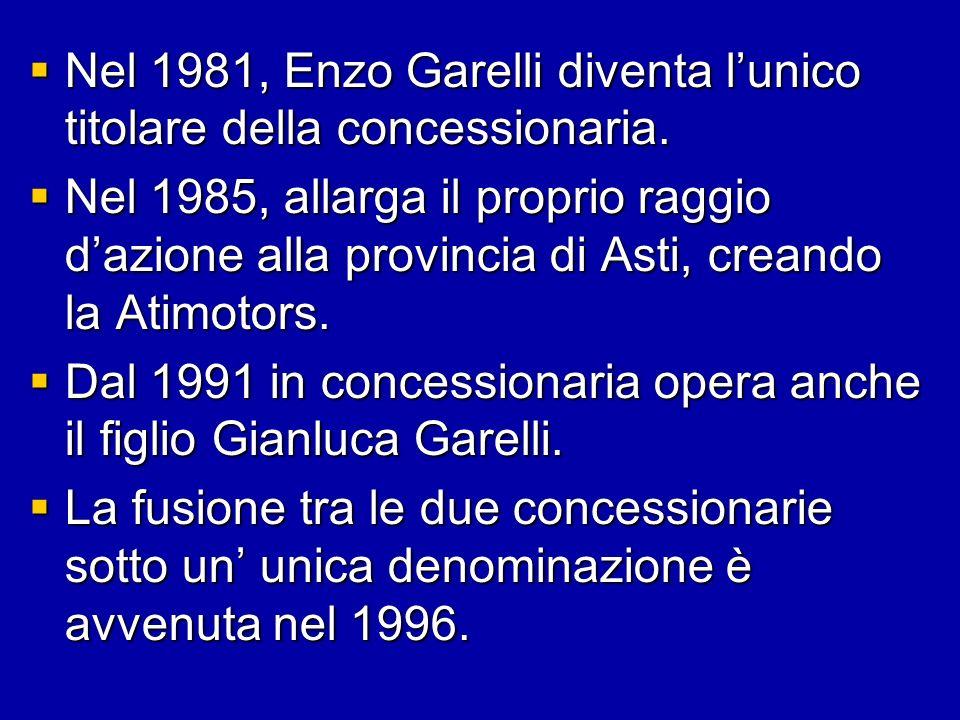 Nel 1981, Enzo Garelli diventa l'unico titolare della concessionaria.