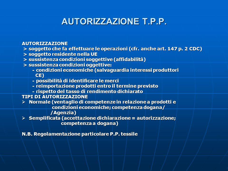 AUTORIZZAZIONE T.P.P. AUTORIZZAZIONE