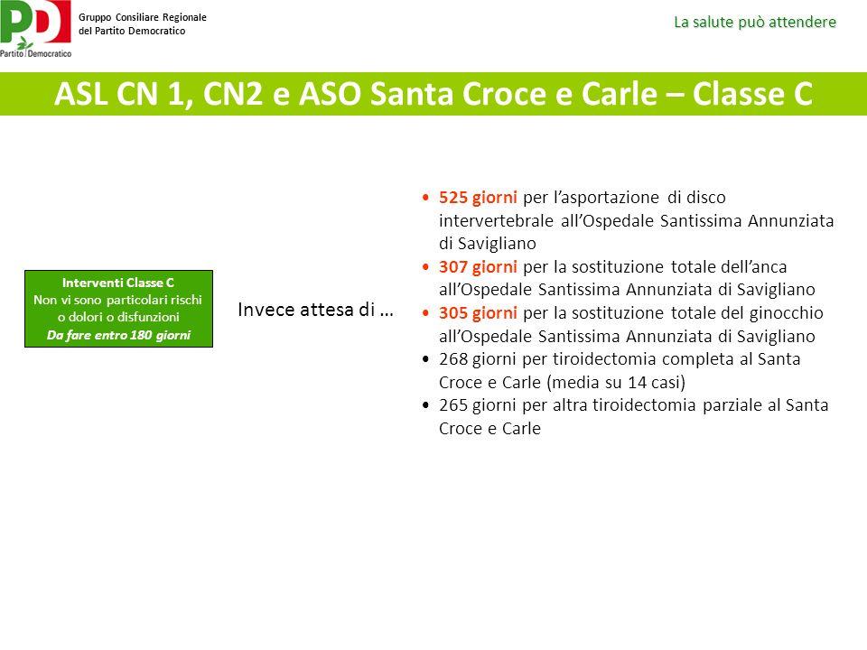 ASL CN 1, CN2 e ASO Santa Croce e Carle – Classe C