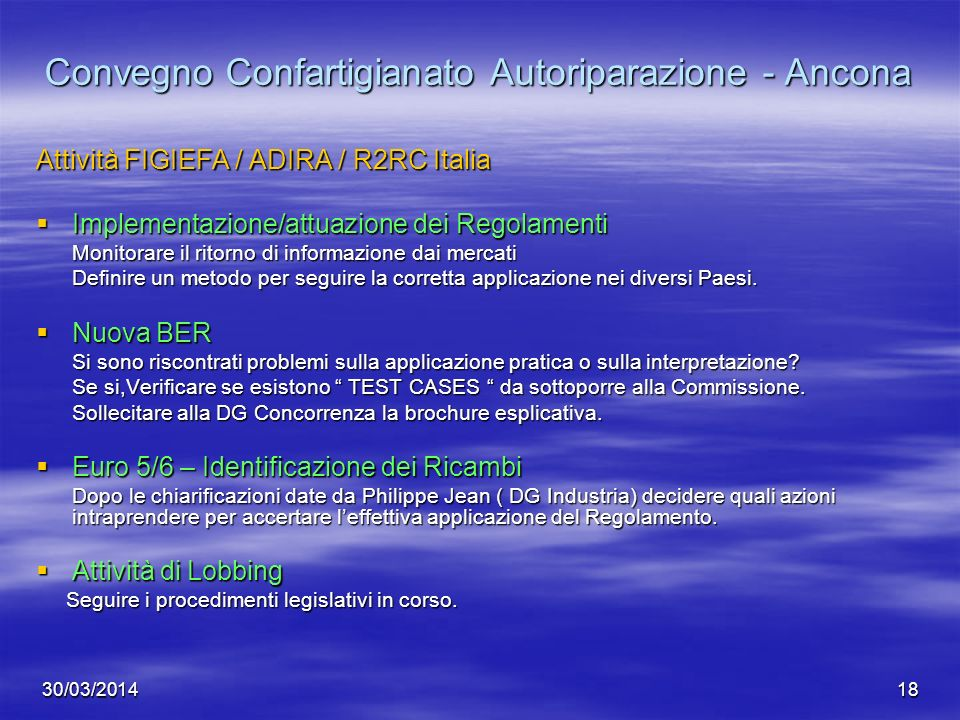 Convegno Confartigianato Autoriparazione - Ancona