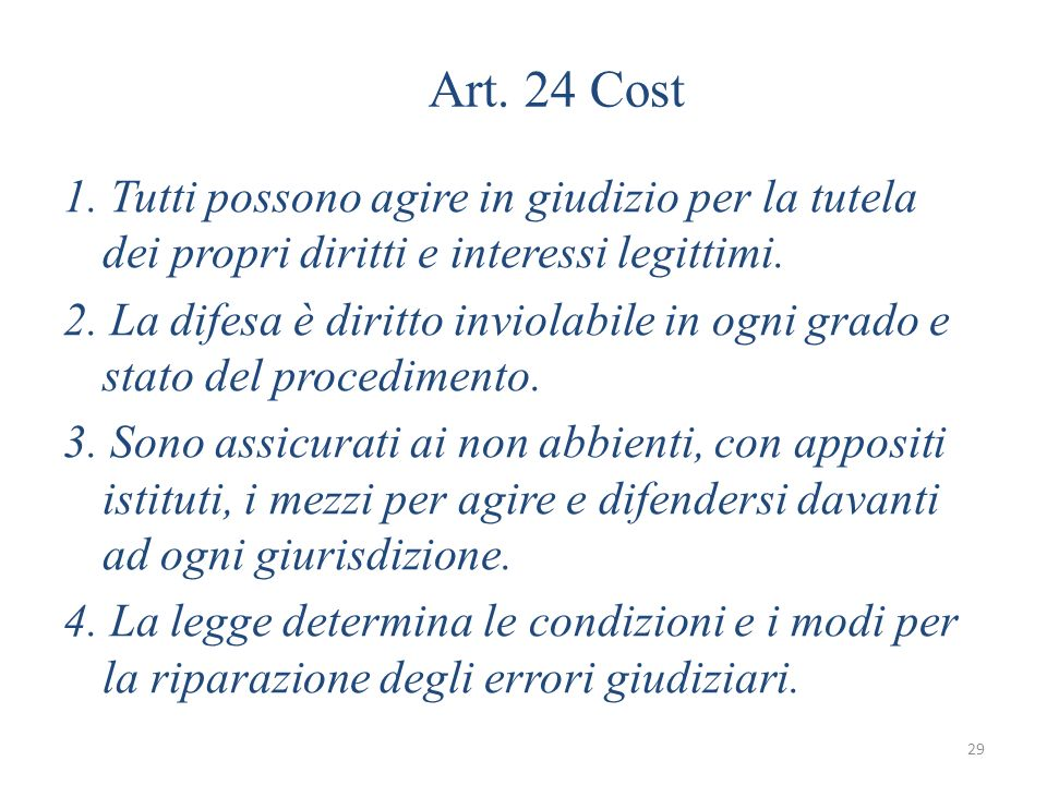 Art. 24 Cost