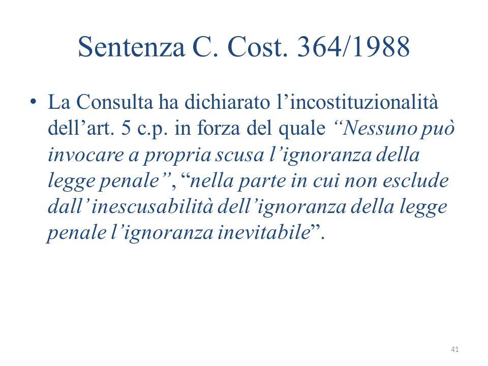 Sentenza C. Cost. 364/1988