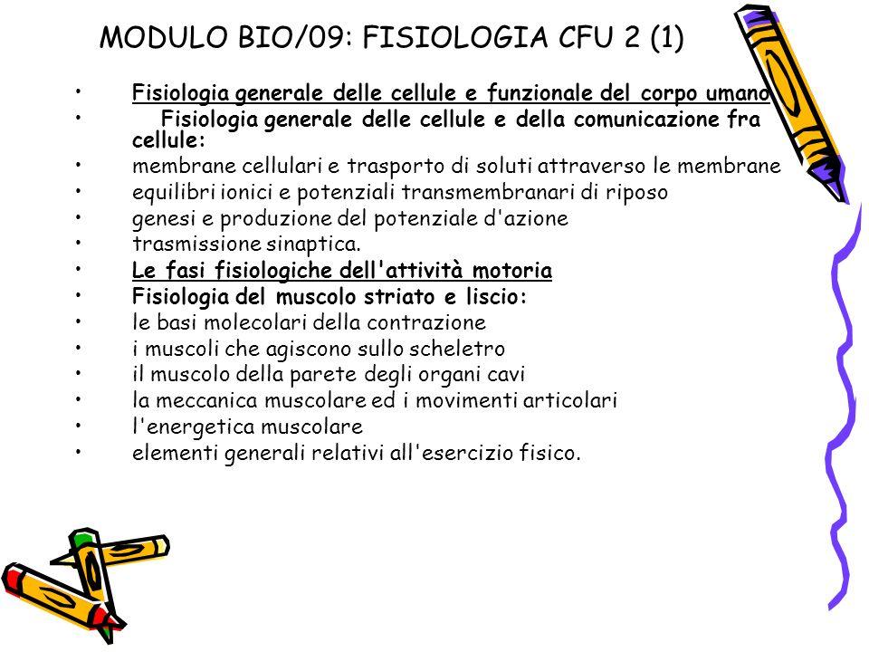 MODULO BIO/09: FISIOLOGIA CFU 2 (1)