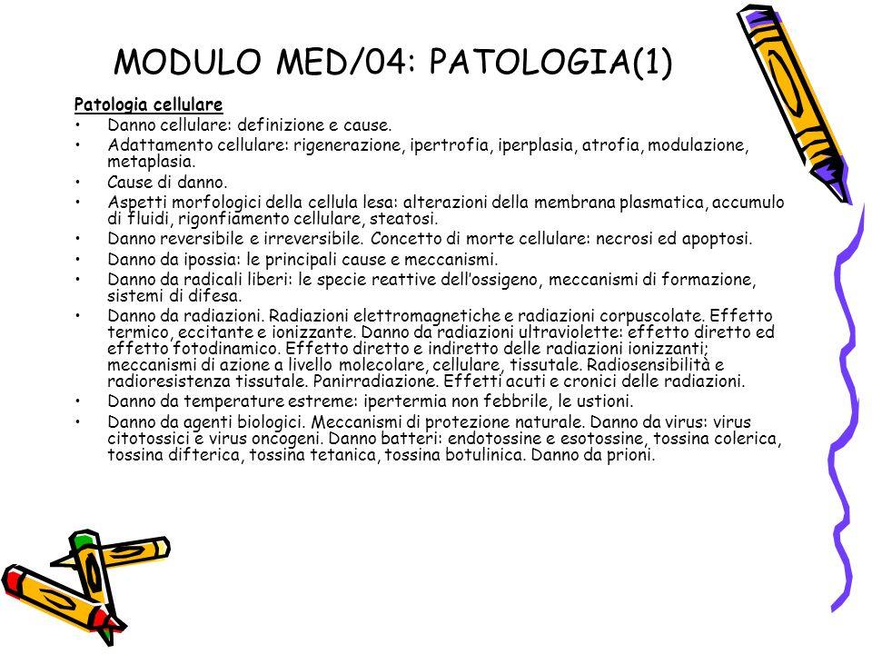 MODULO MED/04: PATOLOGIA(1)
