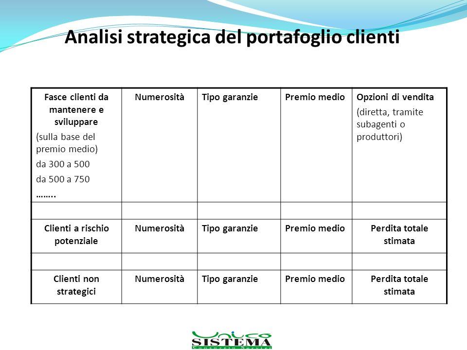 Analisi strategica del portafoglio clienti