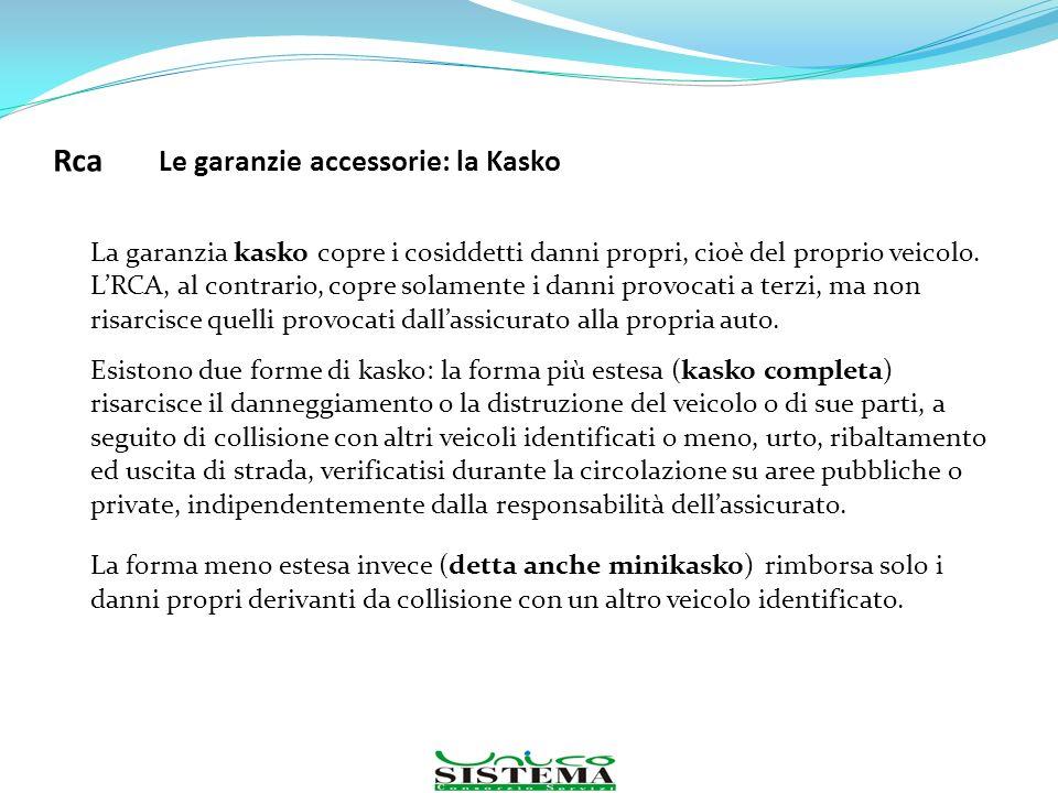 Rca Le garanzie accessorie: la Kasko