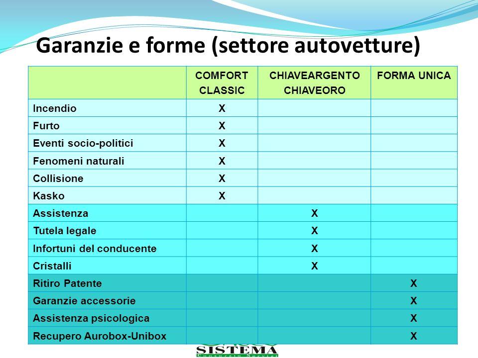 Garanzie e forme (settore autovetture)