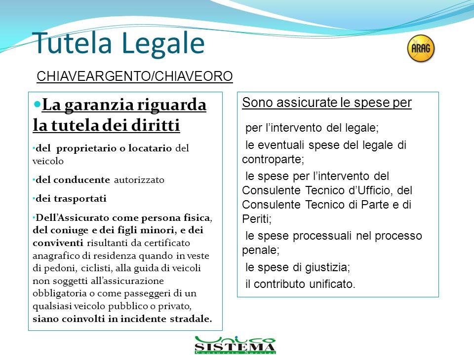Tutela Legale La garanzia riguarda la tutela dei diritti