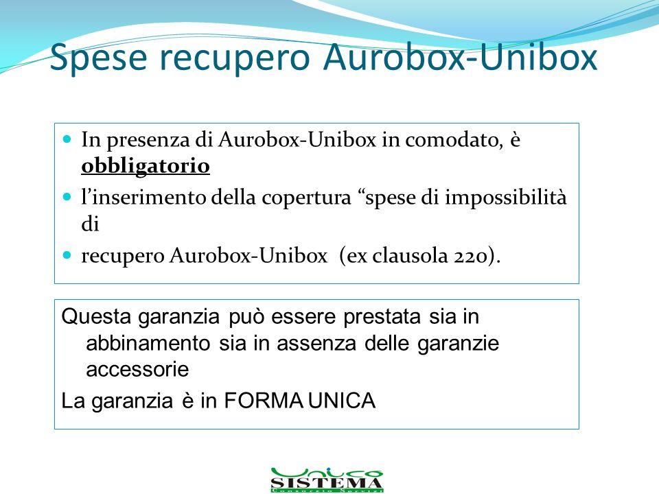 Spese recupero Aurobox-Unibox