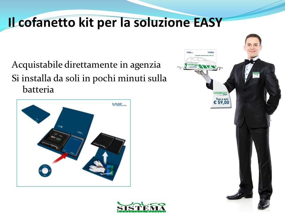 Il cofanetto kit per la soluzione EASY