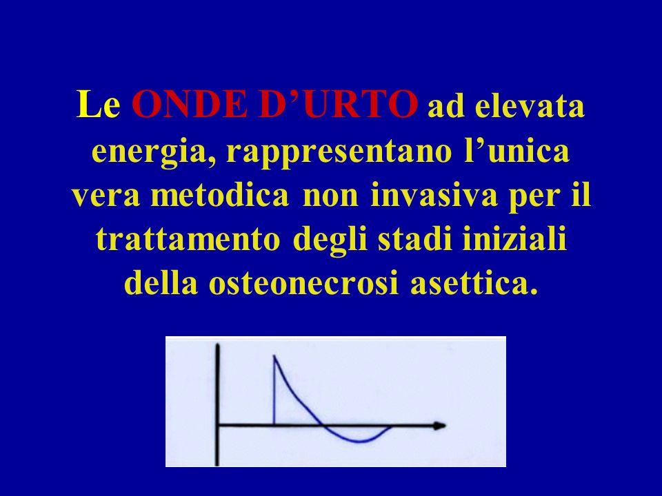 Le ONDE D'URTO ad elevata energia, rappresentano l'unica vera metodica non invasiva per il trattamento degli stadi iniziali della osteonecrosi asettica.