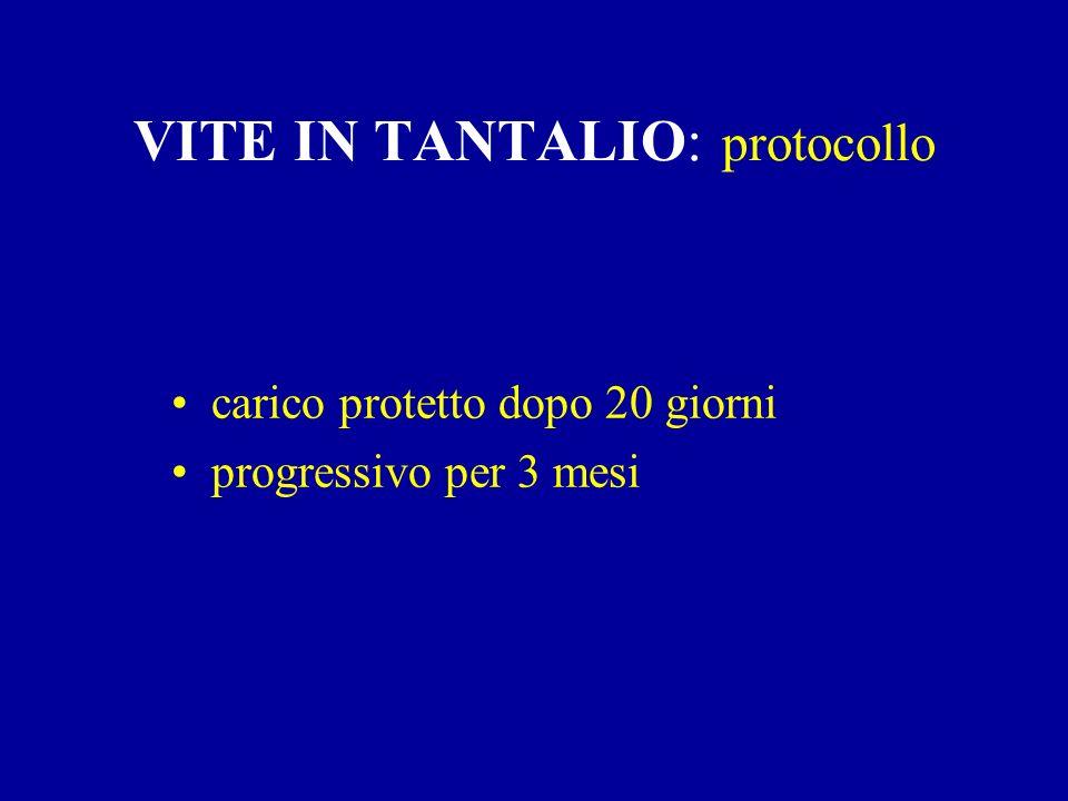 VITE IN TANTALIO: protocollo