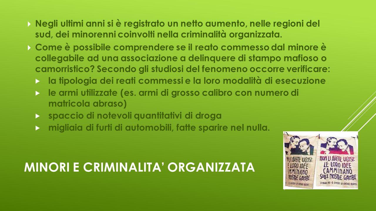 Minori e criminalita' organizzata
