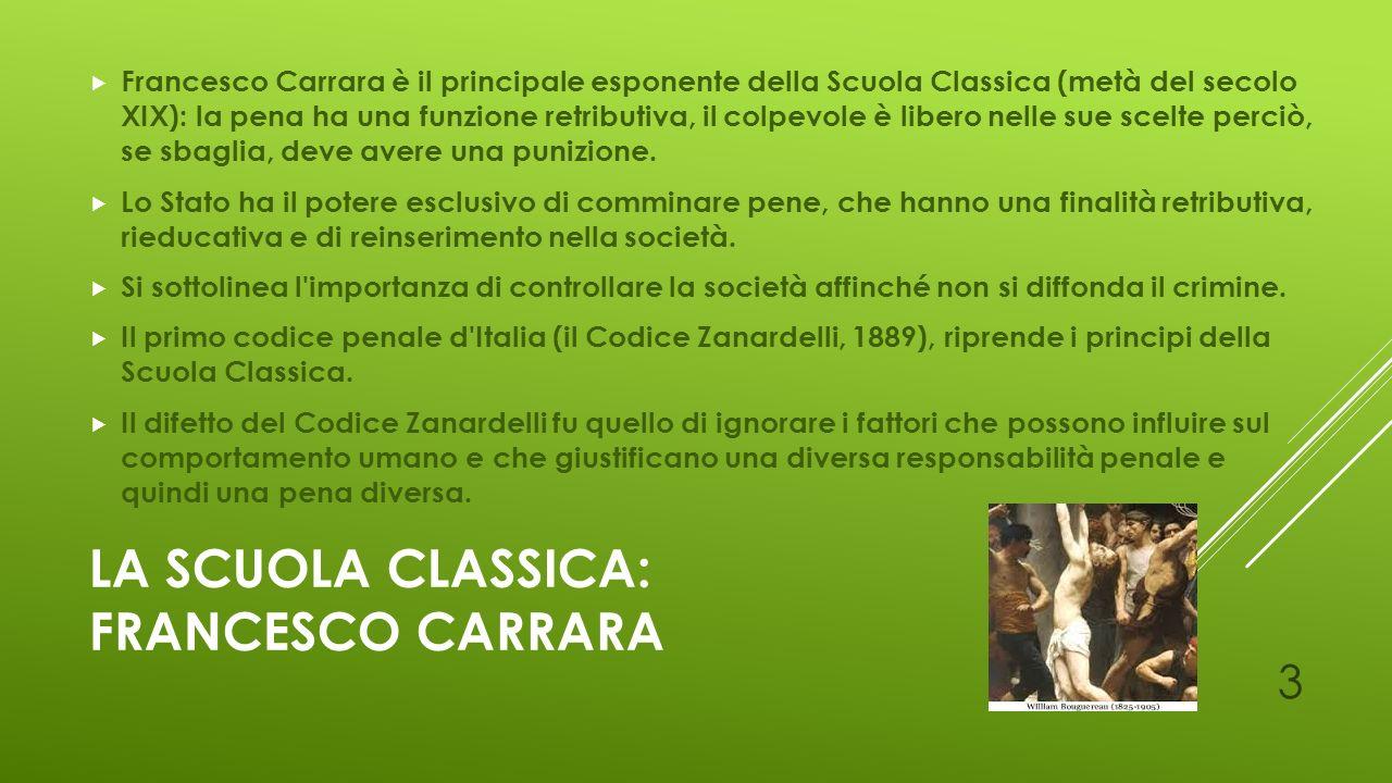 La scuola classica: Francesco carrara