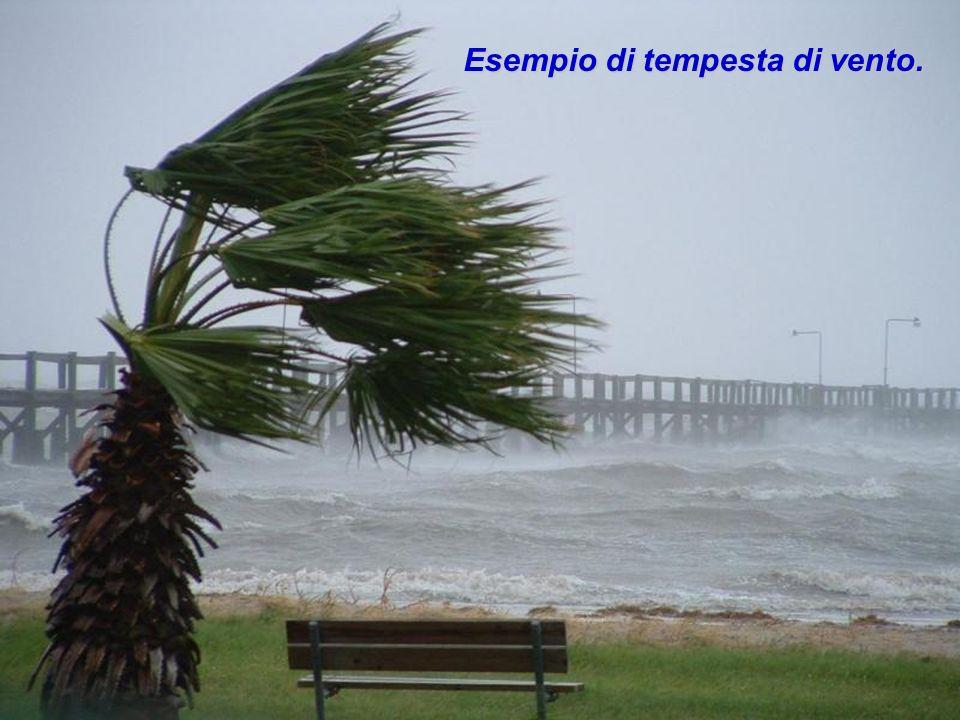 Esempio di tempesta di vento.