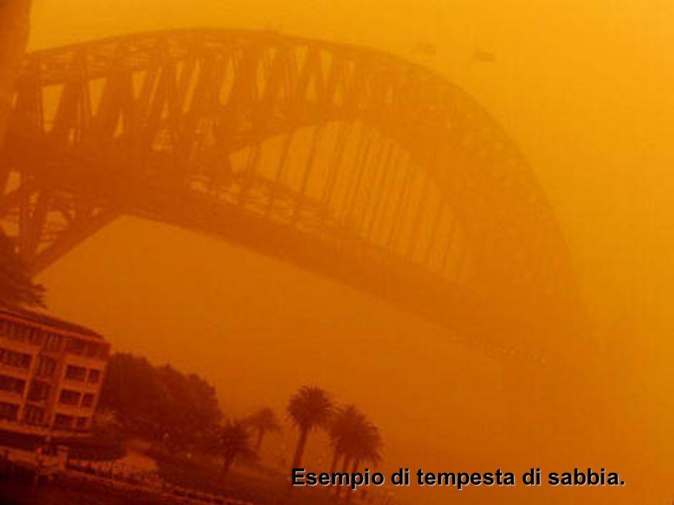 Esempio di tempesta di sabbia.