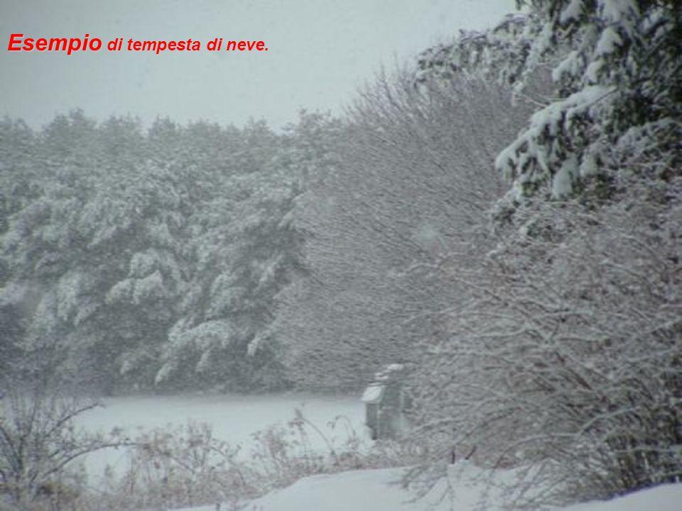 Esempio di tempesta di neve.