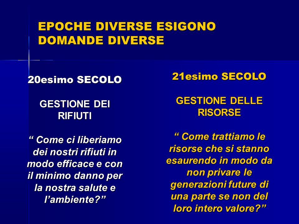 EPOCHE DIVERSE ESIGONO DOMANDE DIVERSE