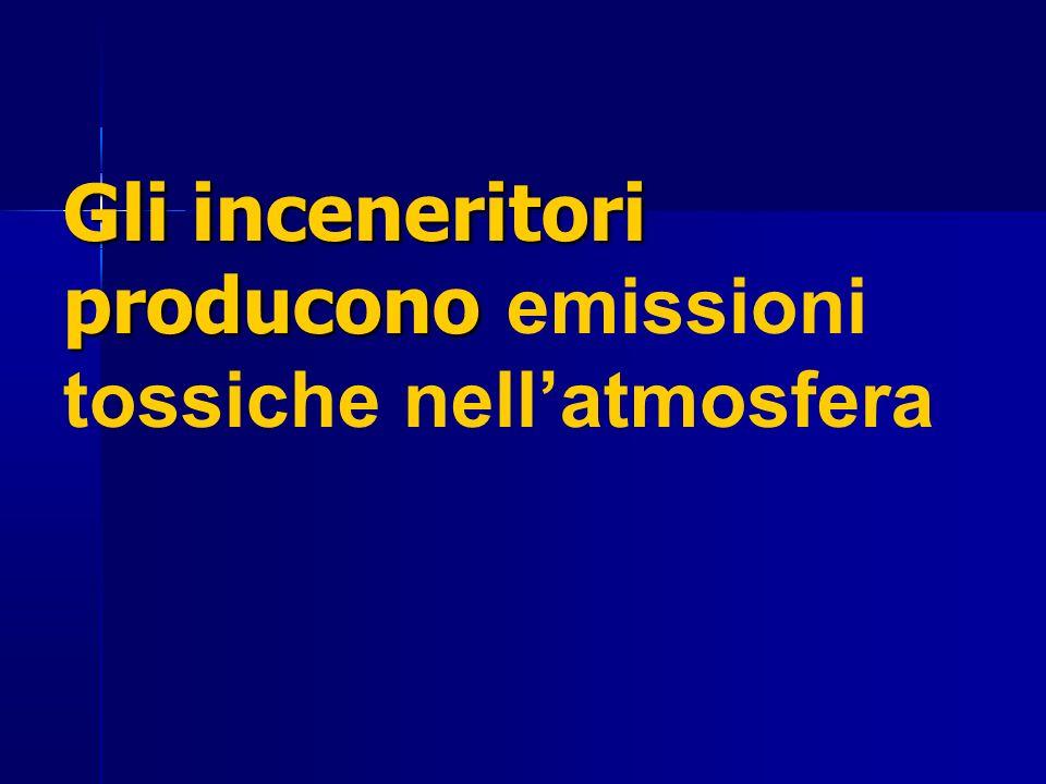 Gli inceneritori producono emissioni tossiche nell'atmosfera