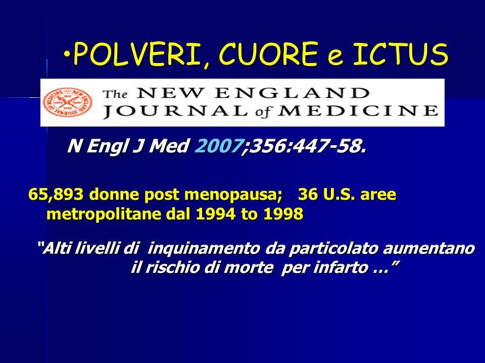 POLVERI, CUORE e ICTUS N Engl J Med 2007;356:447-58.