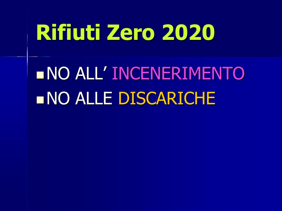Rifiuti Zero 2020 NO ALL' INCENERIMENTO NO ALLE DISCARICHE