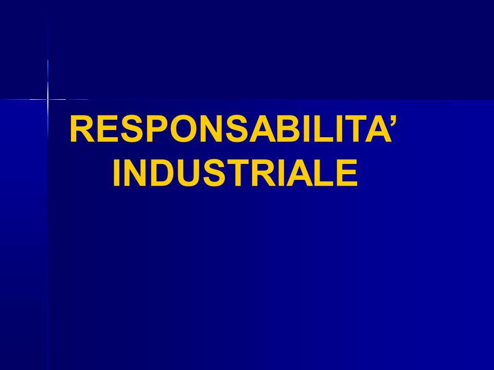 RESPONSABILITA' INDUSTRIALE