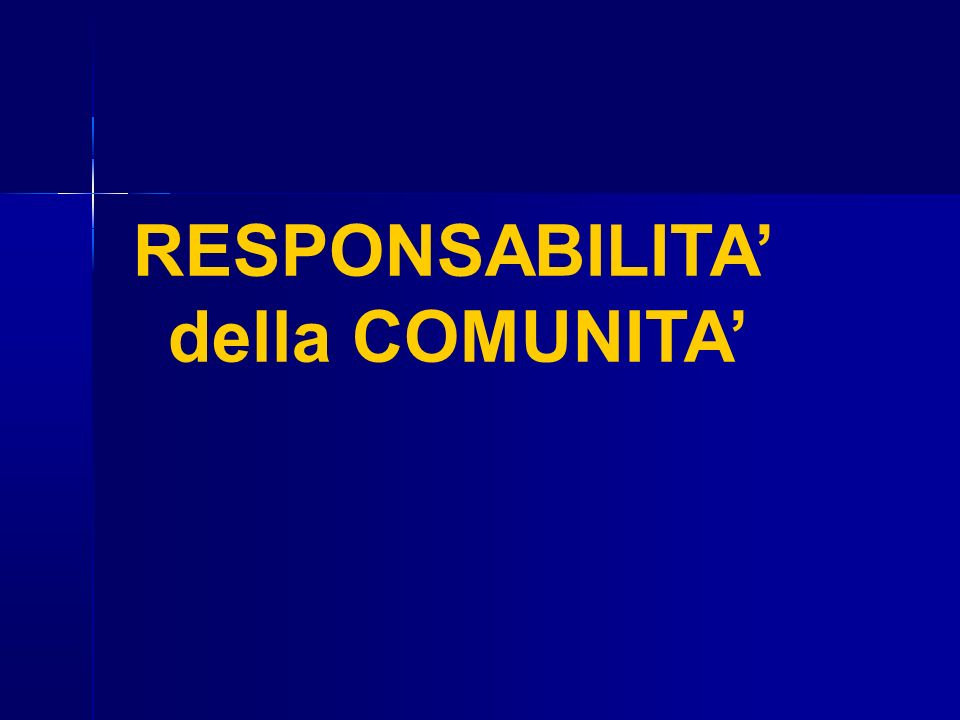 RESPONSABILITA' della COMUNITA'