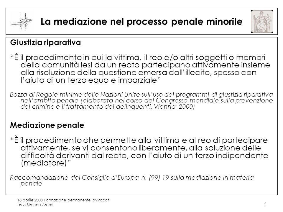 La mediazione nel processo penale minorile