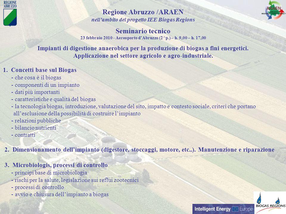 Regione Abruzzo /ARAEN Seminario tecnico