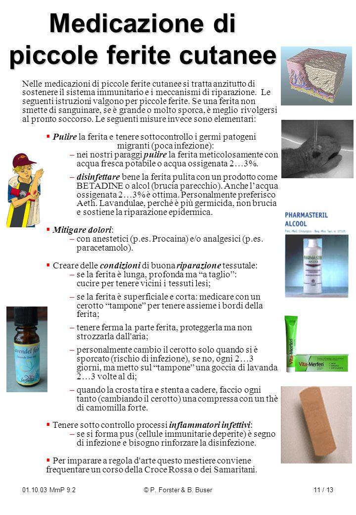 Medicazione di piccole ferite cutanee