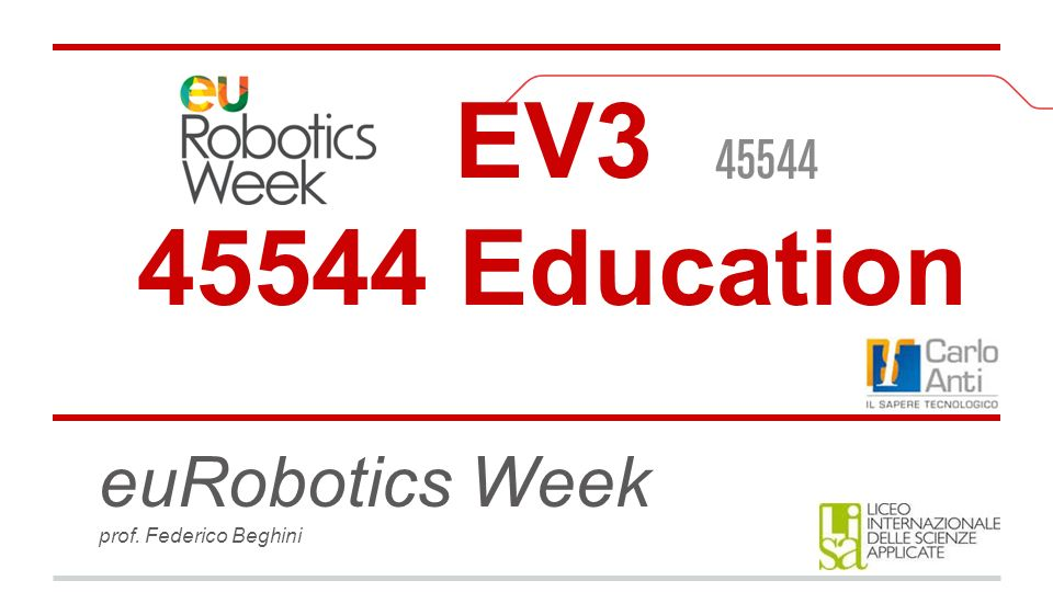 euRobotics Week prof. Federico Beghini