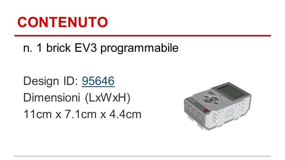 CONTENUTO n. 1 brick EV3 programmabile Design ID: 95646