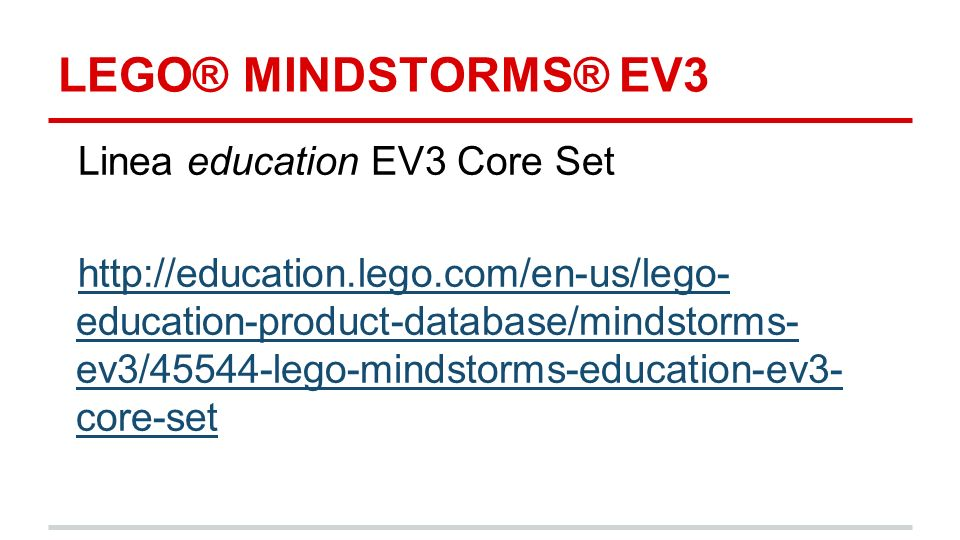 LEGO® MINDSTORMS® EV3 Linea education EV3 Core Set