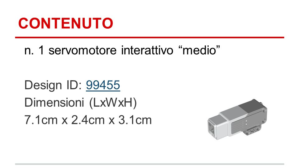 CONTENUTO n. 1 servomotore interattivo medio Design ID: 99455