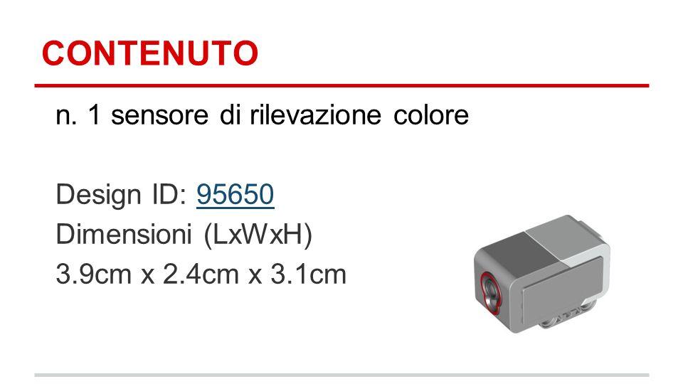 CONTENUTO n. 1 sensore di rilevazione colore Design ID: 95650