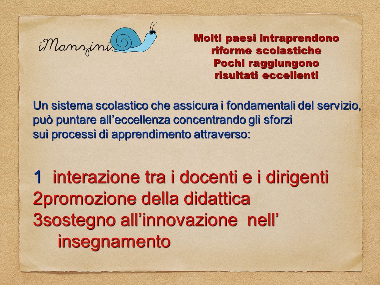1 interazione tra i docenti e i dirigenti promozione della didattica