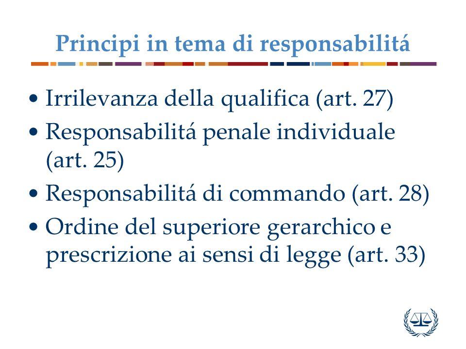 Principi in tema di responsabilitá