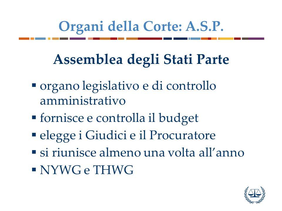 Organi della Corte: A.S.P.