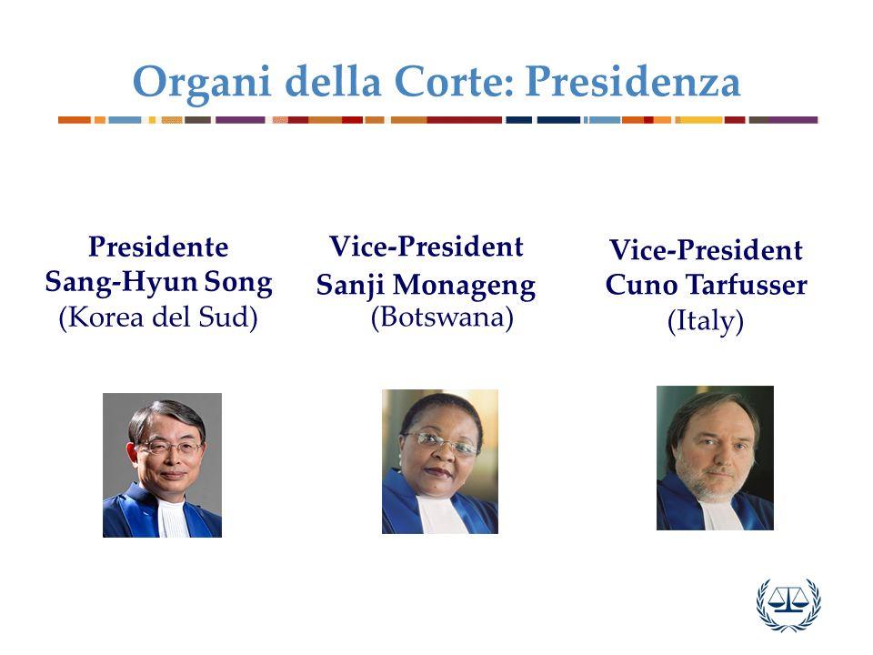 Organi della Corte: Presidenza
