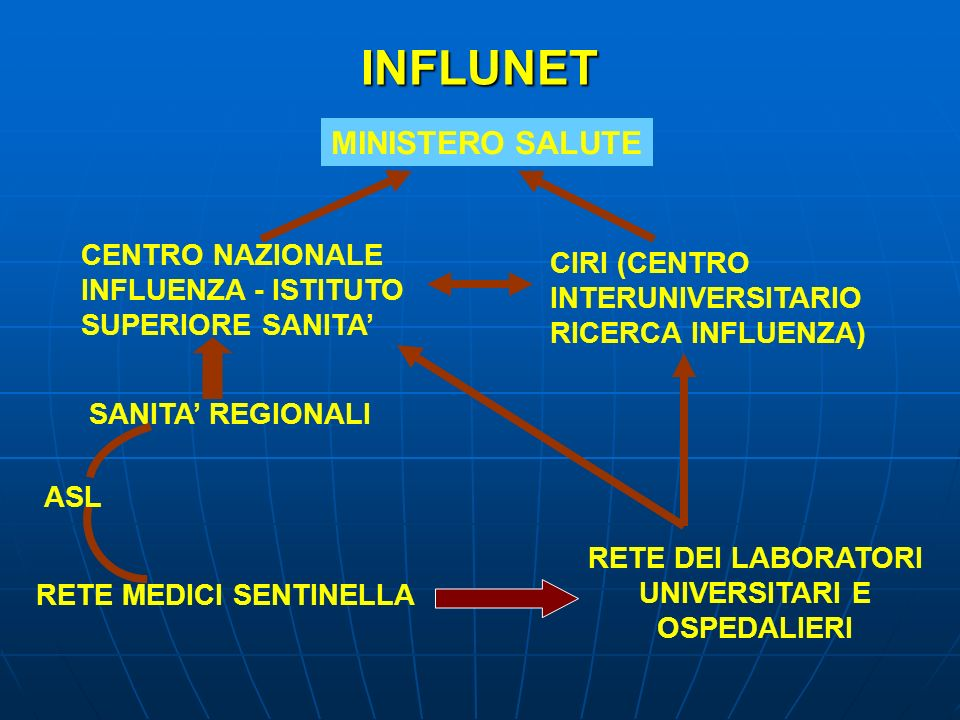 INFLUNET MINISTERO SALUTE