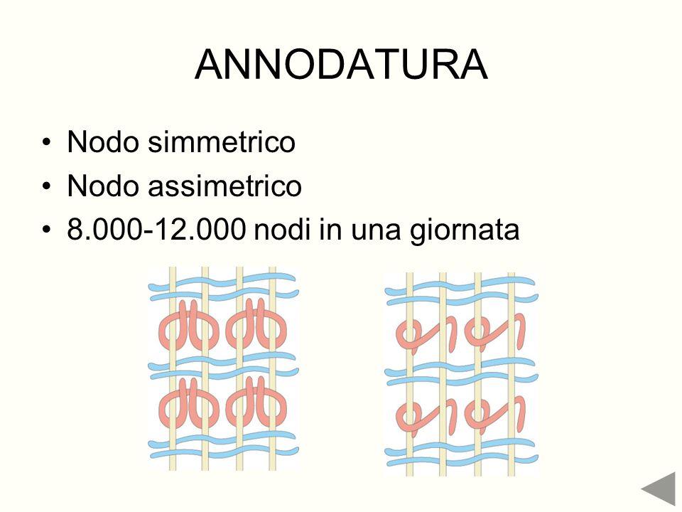 ANNODATURA Nodo simmetrico Nodo assimetrico