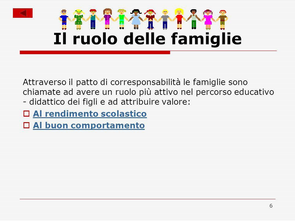 Il ruolo delle famiglie
