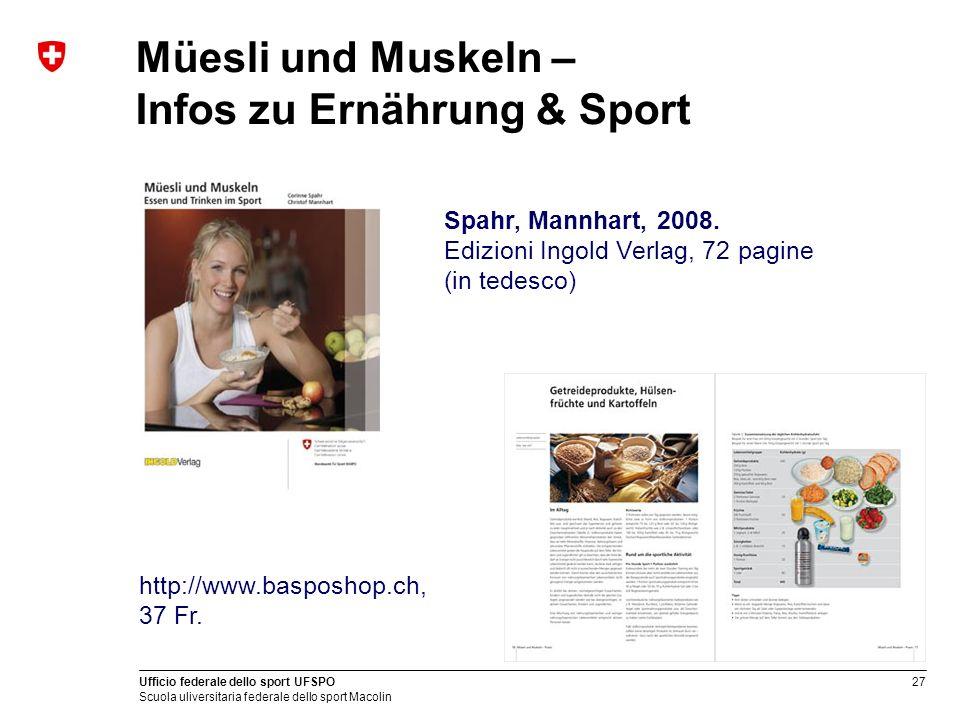 Müesli und Muskeln – Infos zu Ernährung & Sport
