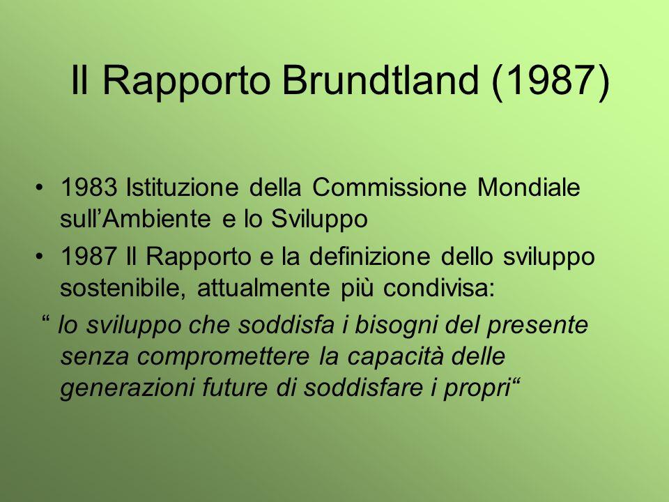 Il Rapporto Brundtland (1987)
