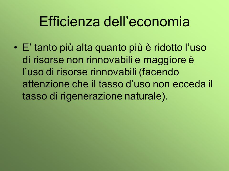 Efficienza dell'economia
