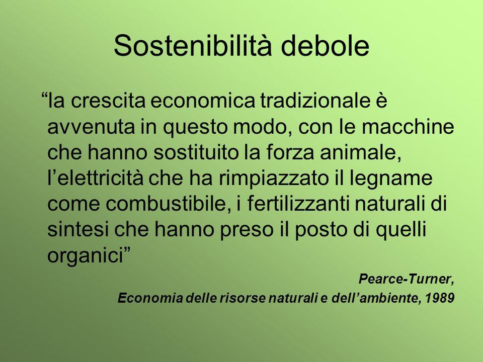 Sostenibilità debole