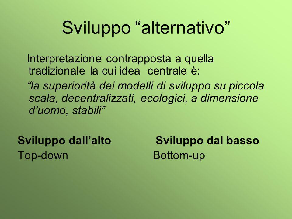 Sviluppo alternativo